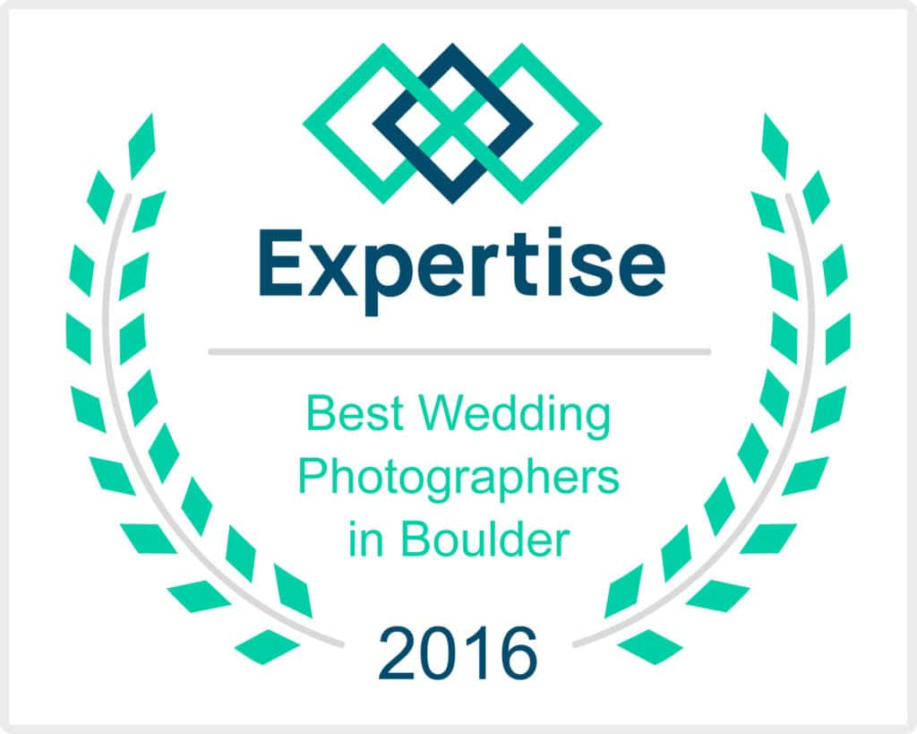 Best wedding photographer in Boulder award