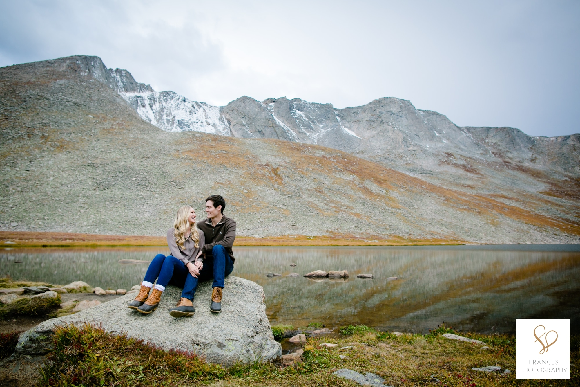 engagement photography rocky mountains frances photography