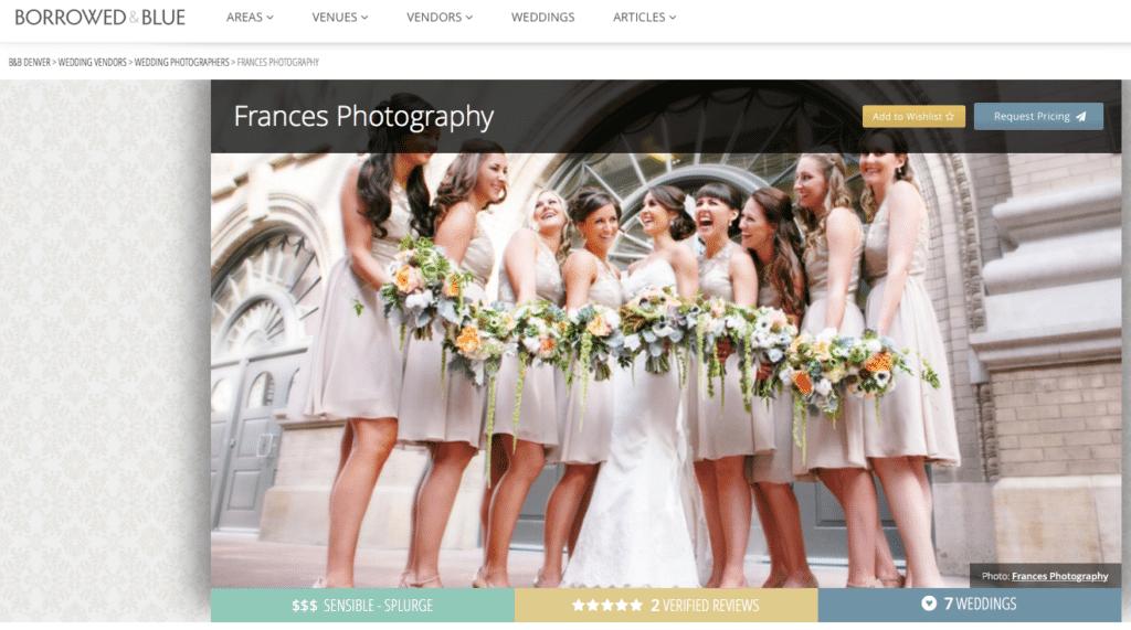 Borrowed & Blue Published Photographer – Denver, CO: Frances Photography
