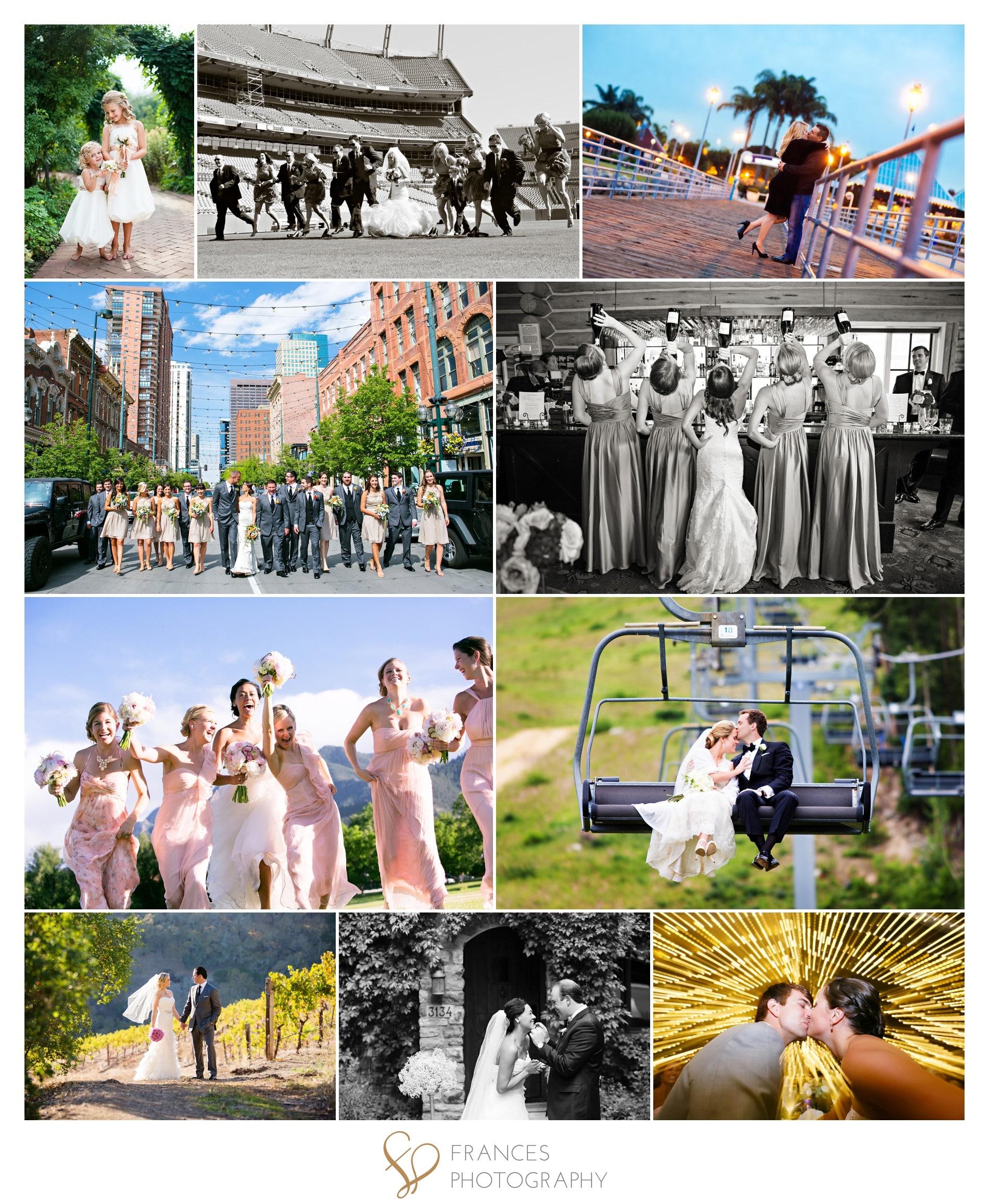 Denver wedding photo collage Frances Photography