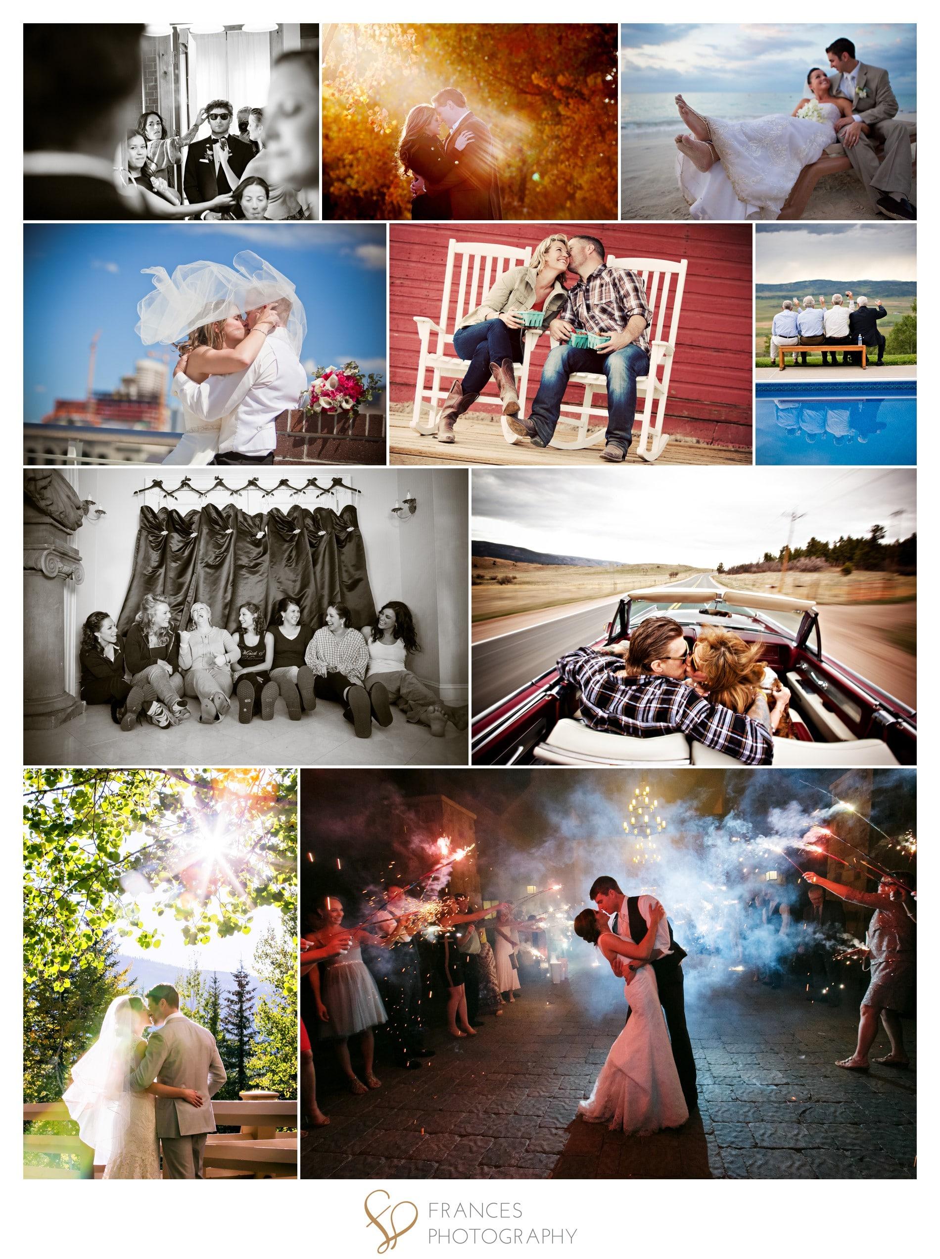 Portfolio collage best Denver wedding photographer
